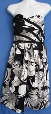 Women's Suzi Chin for Maggy Boutique Bustier Sleeveless Dress Floral Size 8 New