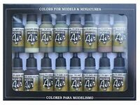 Vallejo Model Air WWII Allies Acrylic Paint Set for Air Brush - Assorted Colours
