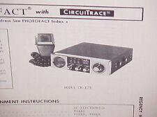 1975 REGENCY CB RADIO SERVICE SHOP MANUAL MODEL CR-123