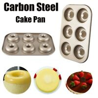 Nonstick Wilton 6 Cavity Doughnut Donut Baking Cake Dessert Pan Tin Mold Maker