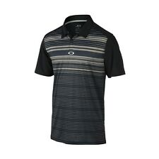 "OAKLEY LEGACY POLO GOLF SHIRT BLACK MENS SIZE LARGE 433451 ""HYDROLIX"""