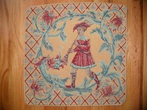 Pillow Cover FLUTE PLAYER 20 x 20 Musical Tapestry Free Ship