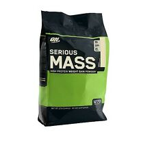 OPTIMUM NUTRITION SERIOUS MASS! Vanilla 12 lbs 8/2018 Creatine Glutamine BCAA