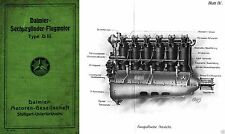 Daimler Mercedes D.III F1466 Aero engine archive WWI WW1 RARE historic 'Fokker'