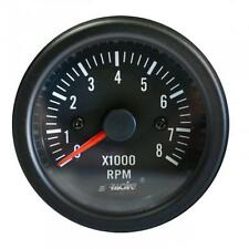 STRUMENTO CONTAGIRI 0-8000 RPM BLACK LINE SIMONI RACING MANOMETRO