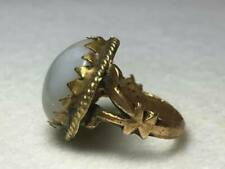 Antique Brass and Agate Ring