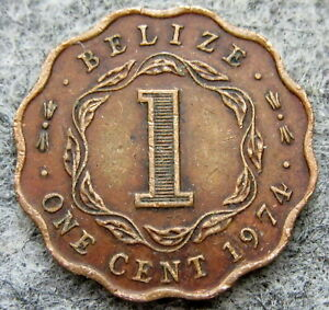 BELIZE 1974 1 CENT, SCALLOPED
