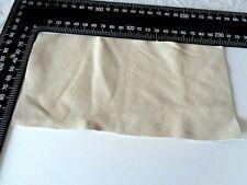 Brand New CREAM 20x10cm,1 Piece GENUINE LEATHER-SCRAPS, OFF CUTS for CRAFTS
