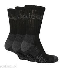 Linea Uomo Lusso Jeep Terrain Da Passeggio Lavoro Trekking Socks Nero Taglia 6-11 UK, 39-45 EUR