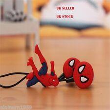 Spiderman Superhero novelty earphones 3.5MM in-ear headphones. UK SELLER
