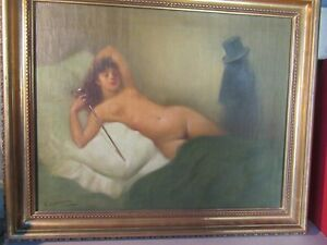 Lorenzo Casanova Ruiz (attribué).Huile Belle Epoque 48X38cm.Peintre espagnol.