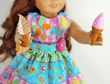 """DOLL FOOD  ICE CREAM CONES SET 2 PIECES FOR 18"""" AMERICAN GIRL ACCESSORIES FOOD"""
