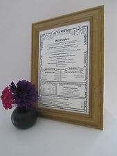 21st 30th Personalised Birthday Gift Present Scroll