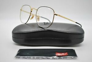 NEW RAY BAN RB 6448 2991 BLACK AND GOLD AUTHENTIC EYEGLASSES FRAMES RX 51-21