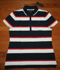 NEW NWT Womens Tommy Hilfiger Classic Fit Stretch Polo Shirt Red White Blue *3P