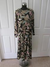 Vtg 80's Carole Little For St Tropez Hibiscus Print 2 Pc Blouse & Skirt Set 10