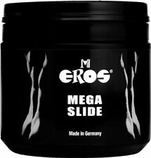 Eros Megaslide Lubricant Gel 500ml Lube Condom Latex Safe For Anal And Vaginal