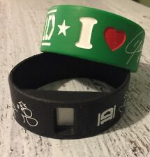 1D One Direction Band Liam Green Bracelet & Black Watch Silicone Rubber Licensed
