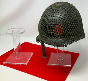 """Acrylic Display Hat, Helmet, and Cap Stand, 6"""" short or 10"""" tall stands"""