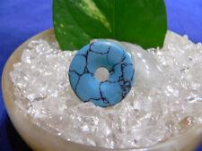Donut 25x4 mm Edelstein Anhänger Prasem