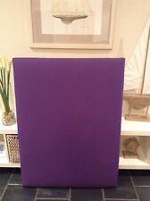 FUN BEDHEADS King Single Size Purple Upholstered Bedhead RRP $695.00