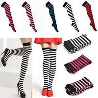 High Stockings Girl Women Stripe Stripy Striped Over The Knee Thigh Long Socks