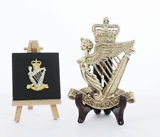 Royal Irish Rangers - LARGE Solid Brass display badge (14.5cm x 10cm)