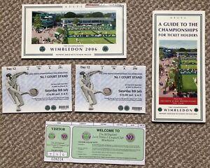 Wimbledon Tennis Championship Collectables 2006