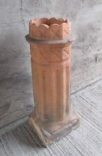 "Antique Chimney Pot - Fluted w/Scallop Top Fired Clay 30"" Tall (#7)"