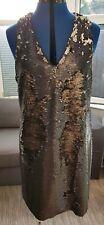 Next Dress Sleeveless  Sequined Grey/Silver UK Size 14