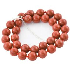 LARGE 12 mm GOLDSTONE BEAD Necklace knotted with 925 Silver extender 18+2