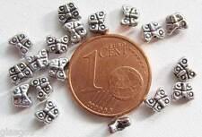 10 perles PAPILLON METAL ARGENTE 20mm DIY BIjoux Déco MA294