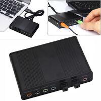 1Hub USB Externe S / PDIF Optische Soundkarte Kanal 5.1 Box DAC AudioLaptopPC DE