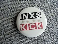 Vintage 1988 Rock Band Inxs Kick Album Nos Pinback Button