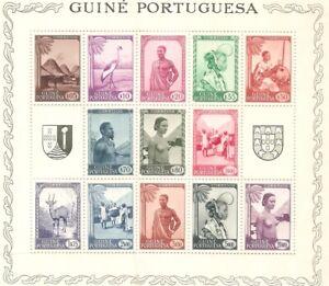 PORTUGUESE GUINEA 1948 BLOCK 2  - MOTIVOS DA GUINÉ COMPLETE MNH SET