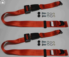 Static Lap Belt Set Alfa Romeo Alfasud since 1980/33/75/90 / Alfetta, Red