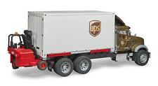 Bruder Toys Mack Granite UPS Truck Bank, Mobile Forklift, Vintage PO Box Door