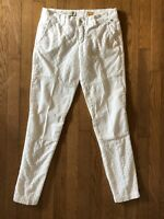 Pilcro and the Letterpress Embroidered Eyelet White Hyphen Jeans Pants Sz 25