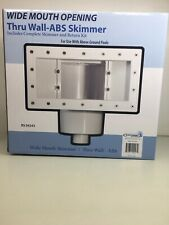 Wide Mouth Above Ground Swimming Pool Skimmer Complete W/ Return Kit Swim New !
