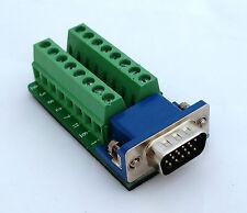 DB15 DSUB 15-pin HD Male Adapter VGA Breakout Board Connector (D3)