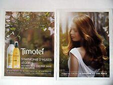 PUBLICITE-ADVERTISING :  TIMOTEI Huiles Légères [2pages] 2014 Coiffure