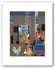 Morning of the Rooster 1980 Romare Bearden African American Art Print 10x7
