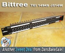Bittree Patch Bay TEI 14949 J314W Video Patch Panel 24 x 2 - Excellent Condition