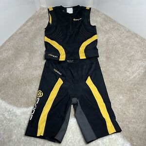 SKINS TRI400 Men's Compression Sleeveless Suit Yellow/Black Size Large  Sample