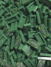 Lego 50 Pieces Money Tile / City Mini Figures 1x2 Tiles With 100 pattern