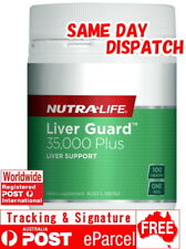 NUTRA LIFE LIVER GUARD 100 CAPSULES 35,000MG MILK THISTLE SILYMARIN
