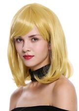Perruque Femmes Cosplay court longue jusqu'aux épaules longbob lisse jaune or