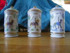 Lenox Carousel Spice Wooden Rack With 24 Carousel Horse Spice Jars With Lids