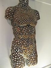 Metal Wall art Male Sculpture Torso home decor by Holly Lentz