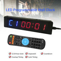 Programmable LED Timer Stopwatch Training Digital Fitness Yoga Crossfit Yoga Gym
